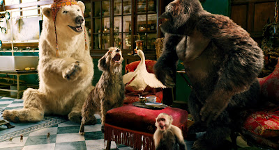 "Tom Holland, John Cena, and Academy Award-winning actors Octavia Spencer, Rami Malek, and Emma Thompson voice a dog, a polar bear, a monkey, a gorilla, and a parrot in the 2020 film ""Dolittle."""