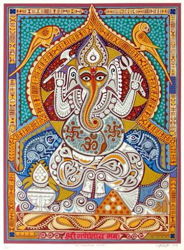 Shree Ganeshay Namah by Jyoti Bhatt - limited edition print available on www.indiaart.com