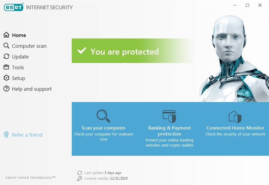 تحميل برنامج ESET Internet Security 13.1.16.0 النسخة الكاملة