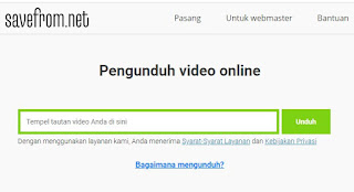 Download Video Youtube di Laptop - savefrom.net