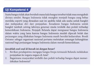 Soal dan Jawaban Uji Kompetensi 4, PKN Kelas 8 Halaman 93