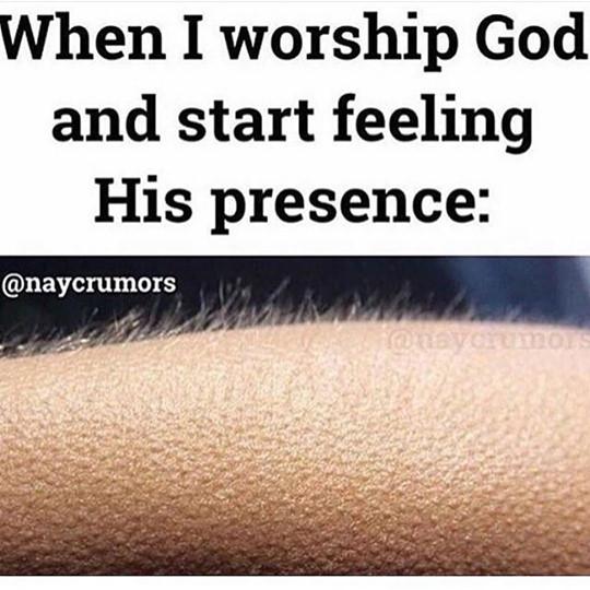 When I worship to God