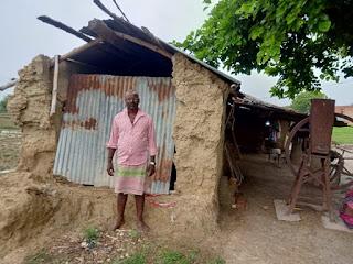 बिसौरी ग्राम पंचायत में रामजतन राम को नही मिला पीएम आवास योजना का लाभ   #NayaSaberaNetwork
