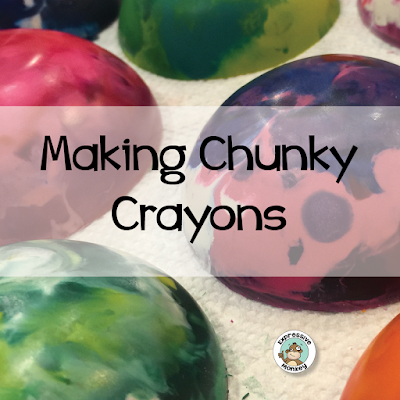 See how to make chunky crayons (crayon cookies) in this blog post.