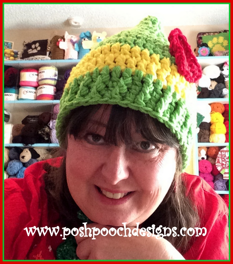 Posh Pooch Designs Dog Clothes Elf Hat Crochet Pattern For Youth