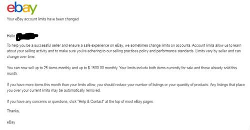 ebay limit increase