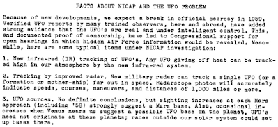 Facts About NICAP and The UFO Problem