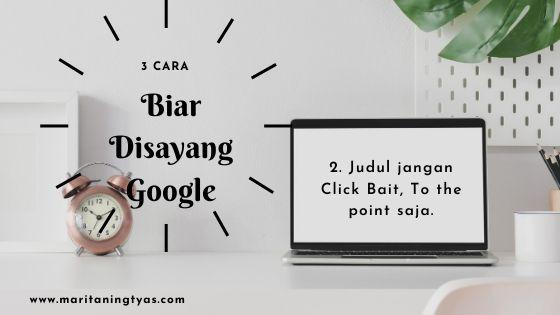 belajar SEO google bikin judul yang tepat dan nggak click bait