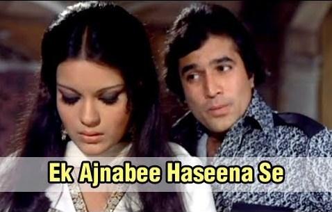 Ek Ajnabee Haseena Se Lyrics - Kishore Kumar | Rajesh