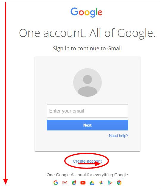 new create gmail account
