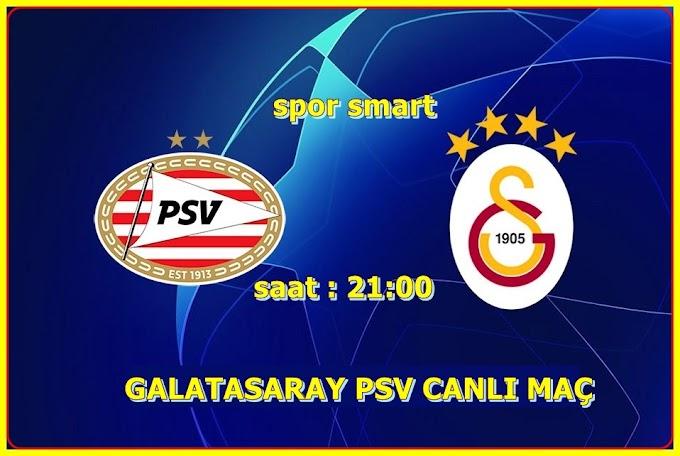 Galatasaray PSV EİNDHOVEN  maçı şifresiz izle - uefa şampiyonlar ligi