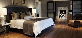 dekorasi kamar tidur lantai kayu