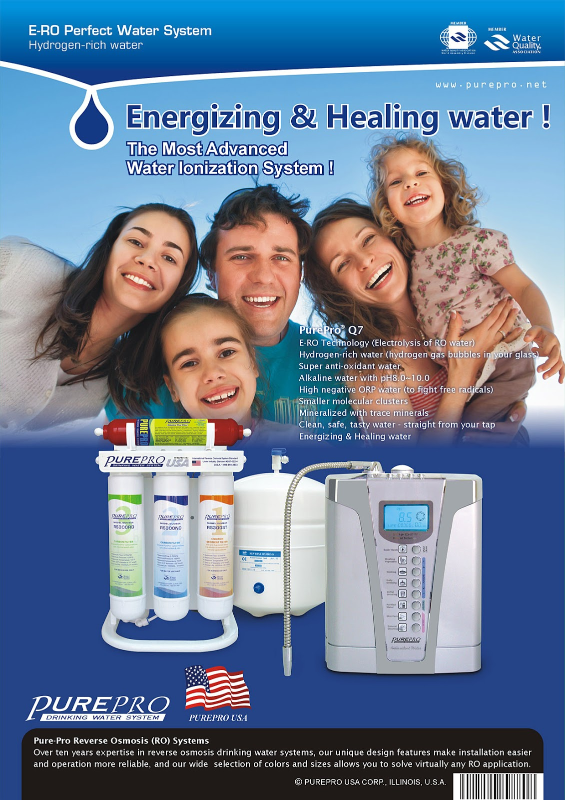 PurePro® Perfect Water System Q7 - Most Popular Combinations In The World - PurePro ERO-Q7