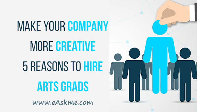 Make Your Company More Creative - 5 Reasons to Hire Arts Grads: eAskme