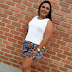 Look do Dia: Short Estampado + Sandália Anabela