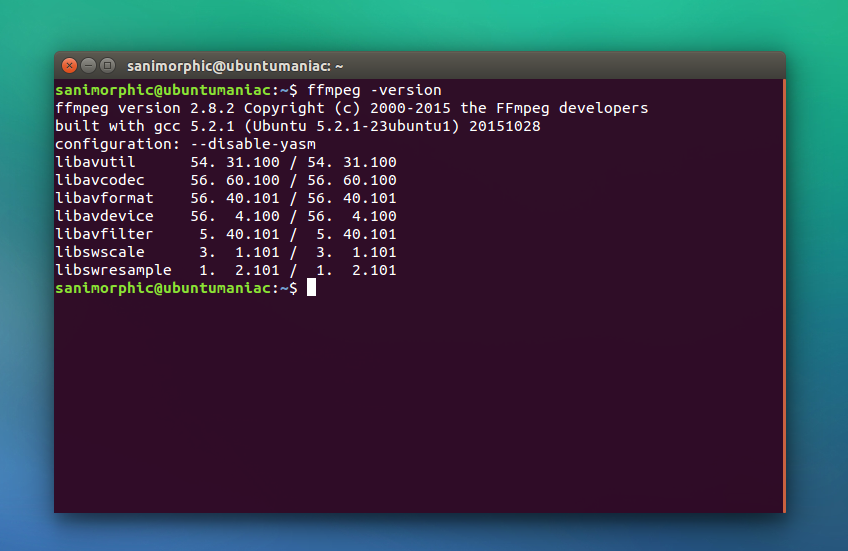 FFMPEG 2 8 2 is released, Install on Ubuntu and Linux Mint