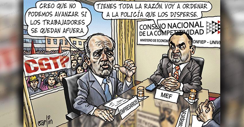 Carlincaturas Lunes 14 Enero 2019 - La República