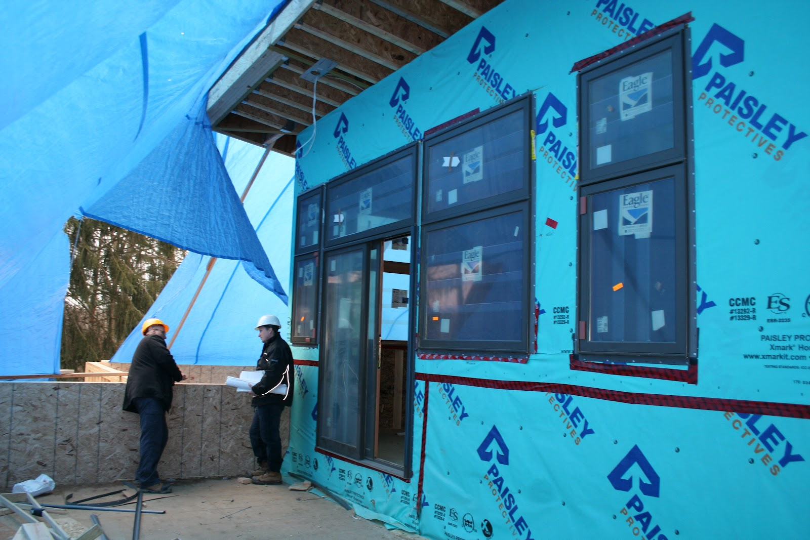 Lapointe Architects News River House Framing Completed