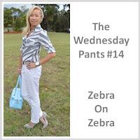 Sydney Fashion Hunter - The Wednesday Pants #14 - Zebra on Zebra