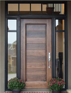 ตัวอย่างประตูไม้