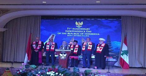 السفير الإندونيسي اقام حفل استقبال في العيد الوطني لبلاده