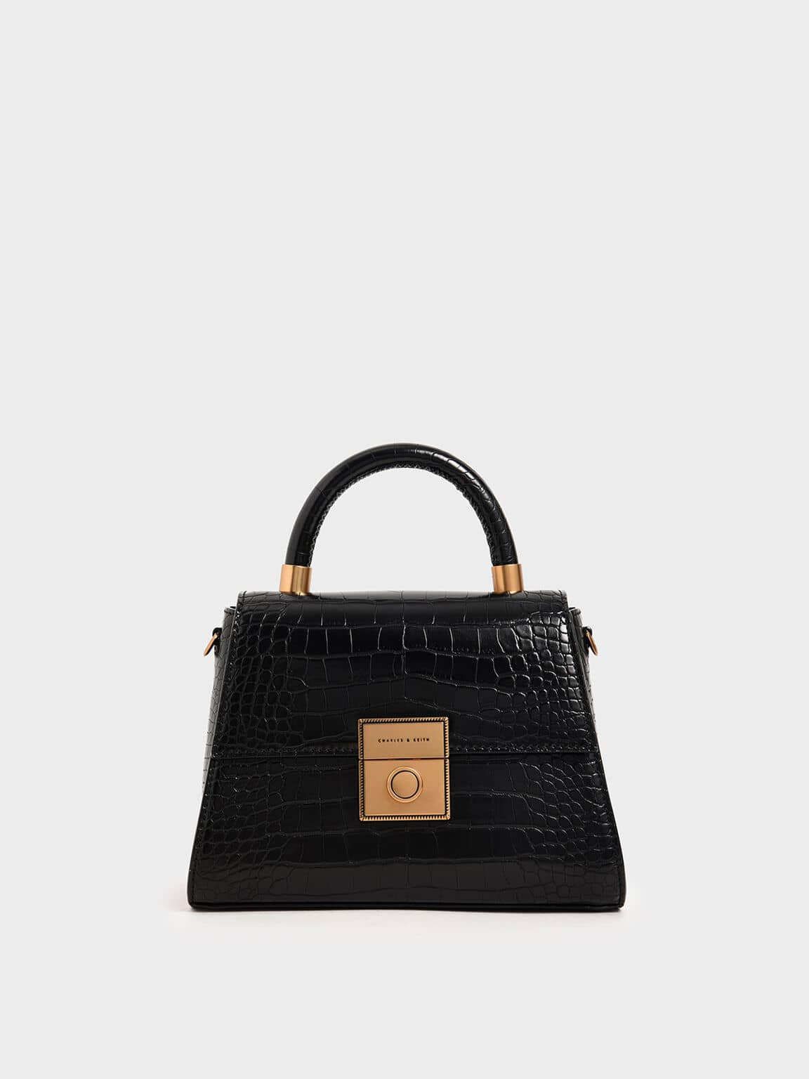 croc-effect structured bag