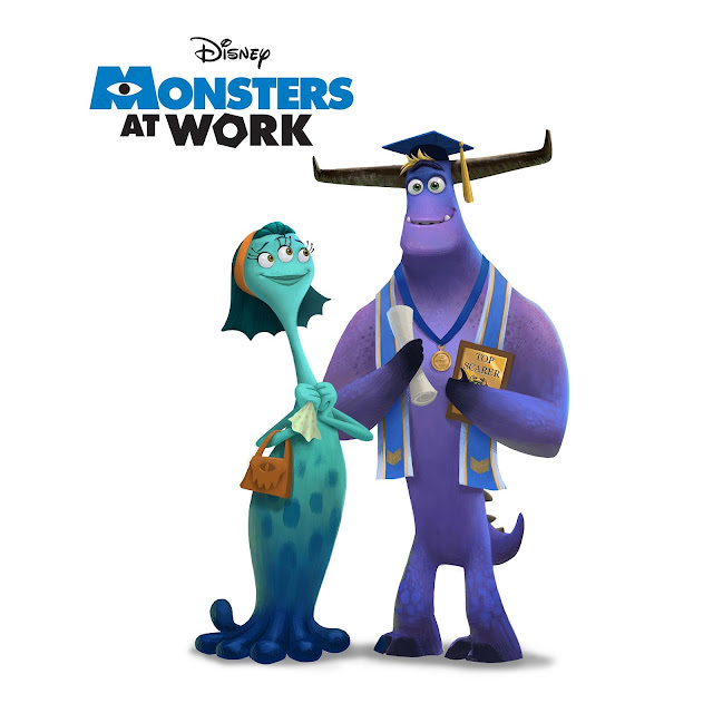 Millie and Tylor Tuskmon concept art from Monsters At Work