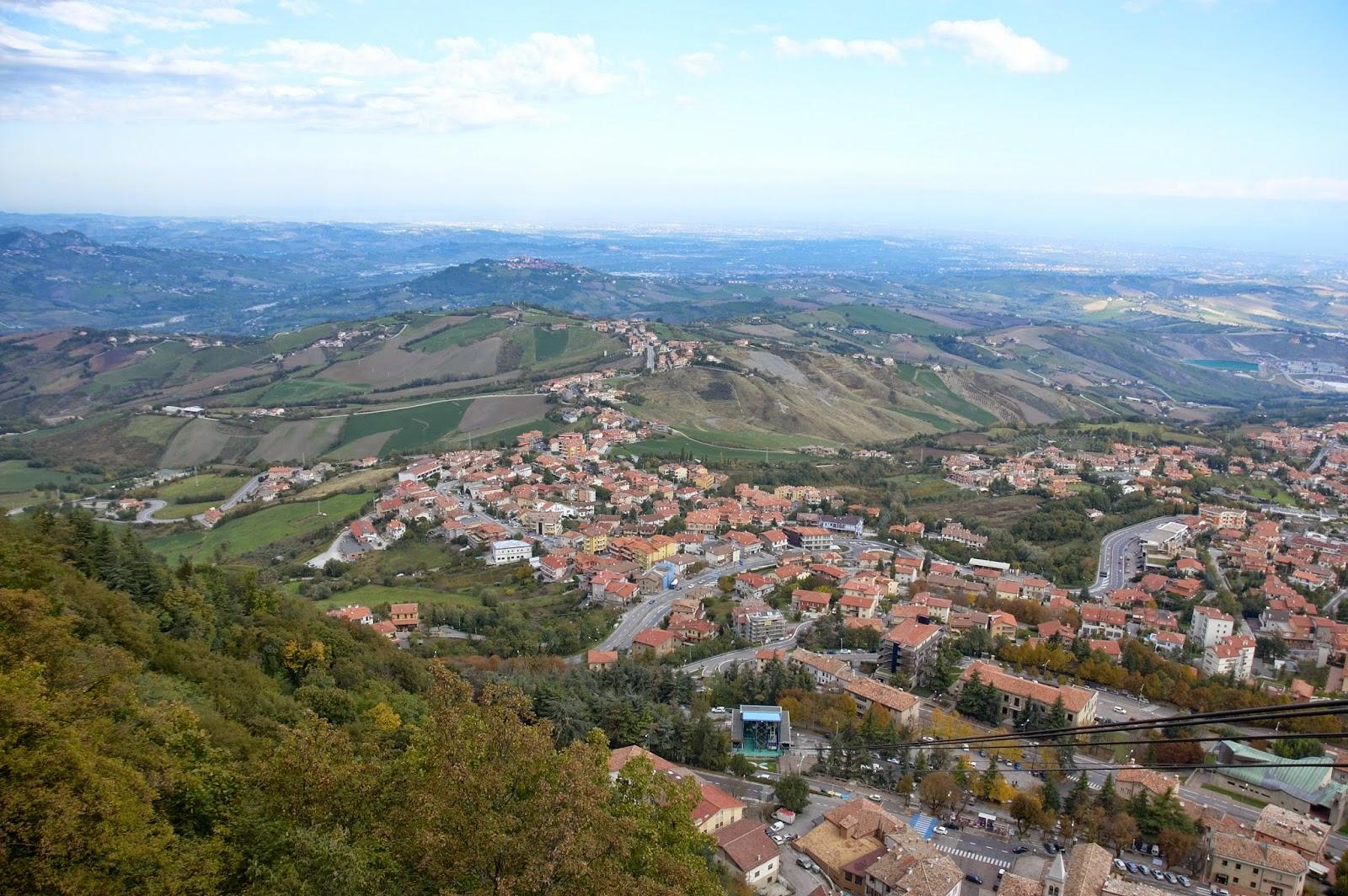 widok na okolice republiki San Marino