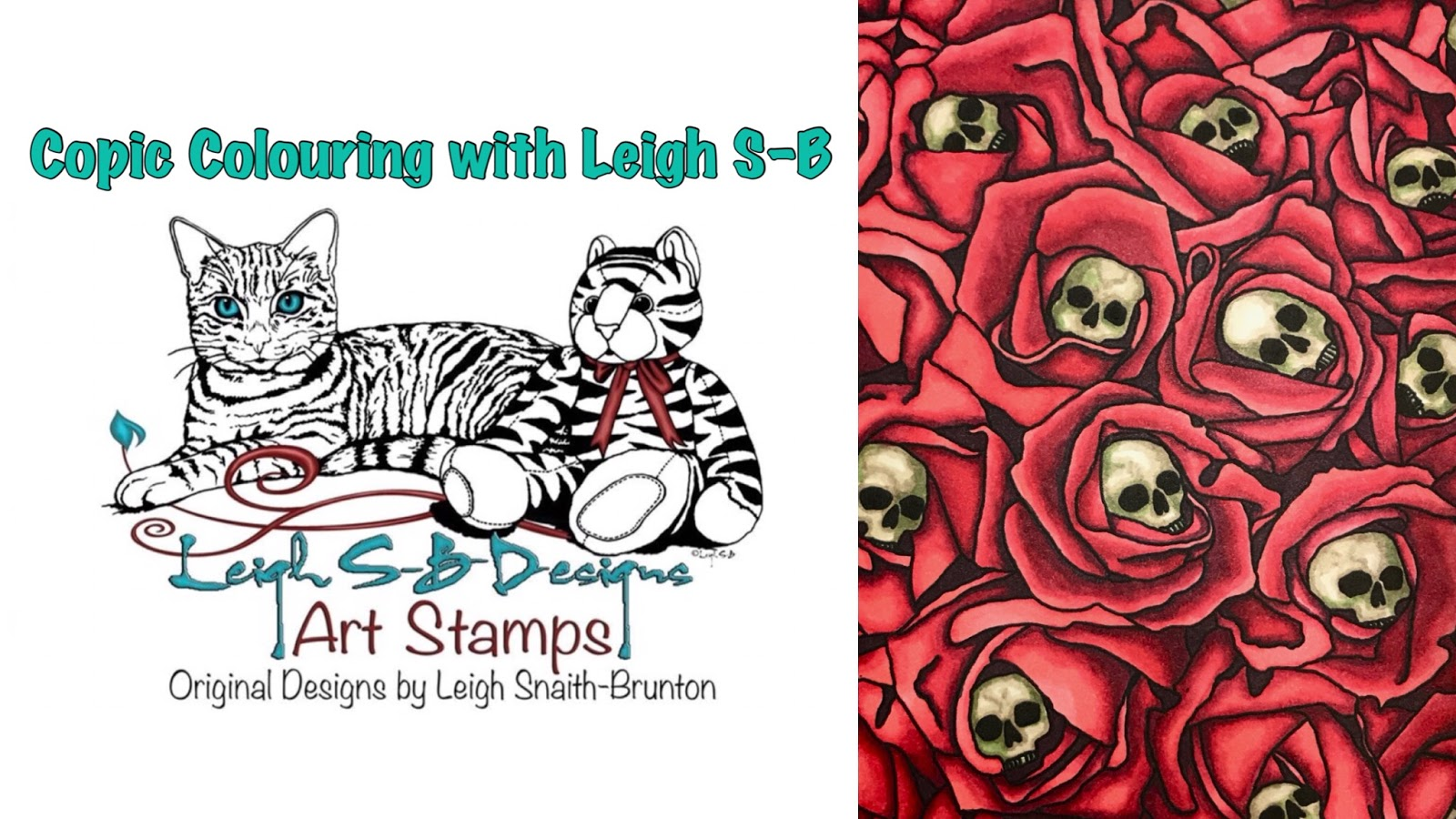 LeighSBDesigns: Tutorial Tuesdays: Red Roses Copic Colouring with Leigh!
