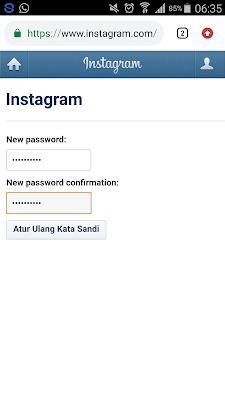 reset password instagram