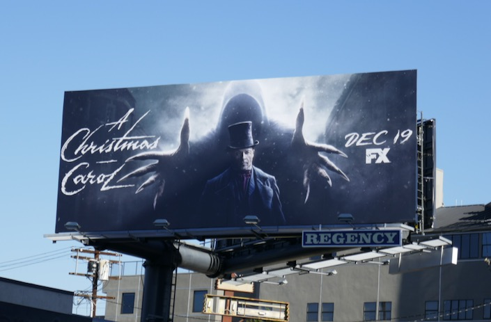 Guy Pearce A Christmas Carol miniseries billboard
