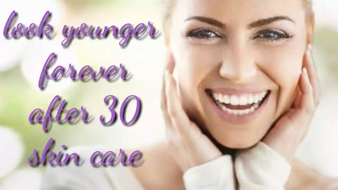 Skin care after 30 get brighten and tighten skin.