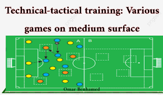 Technical-tactical training: Various games on medium surface