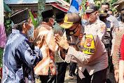Kapolres Pandeglang Tinjau Kampung Tangguh Nusantara di Desa Medong Sekaligus Lakukan Baksos