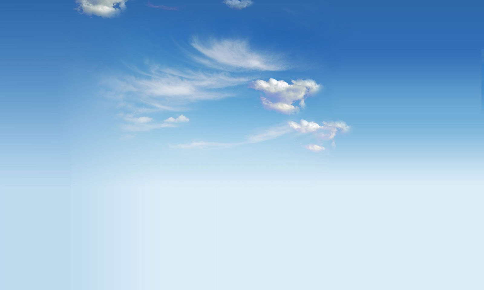 Sky high cloud PowerPoint background