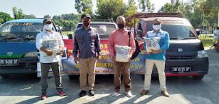 Momentum Mayday, Polda NTB Bagikan Paket Sembako Kepada 3 Organisasi Buruh