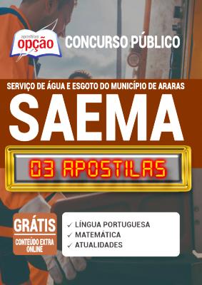 Apostila Concurso SAEMA Araras SP 2020 PDF Edital Online Inscrições