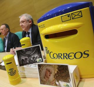 Lágrimas y Favores de Málaga protagoniza una tarjeta postal de Correos
