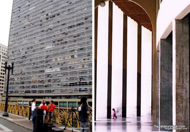 Viaduto do Chá e o Estádio do Pacaembu, São Paulo
