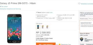 Samsung Galaxy J5 Prime SM-G570 Harga terbaru Rp 2.599.000