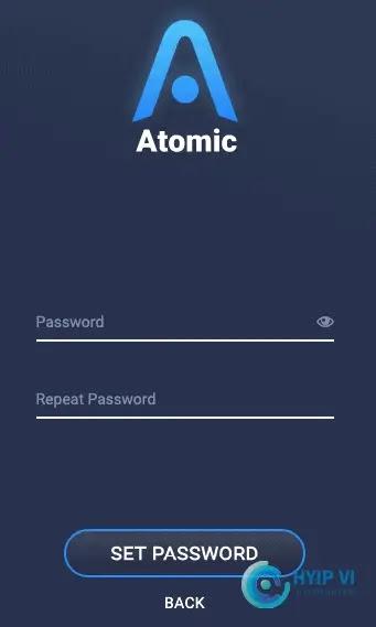 Đặt mật khẩu Atomic Wallet