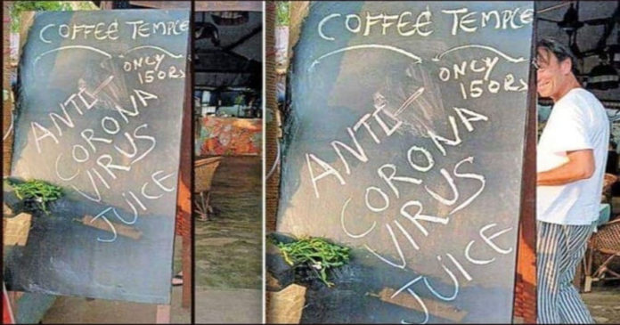 British sold anti-corona juice at Varkala,www.thekeralatimes.com