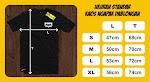 Size Chart Kaos Ngapak Dablongan