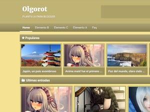 Olgorot – plantilla tipo galería responsive, blogger