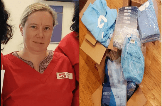 This nurse treating COVID-19 patients spends at least $ 500 on protective equipment because her hospital has been running out