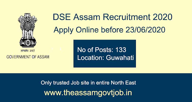 DSE, Assam Recruitment 2020