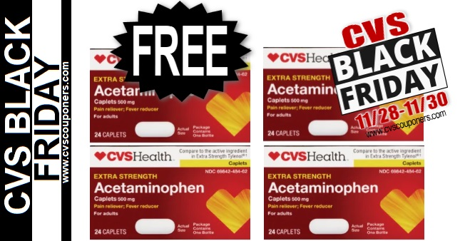 FREE CVS Acetaminophen Pain Relief 11-28-11-30