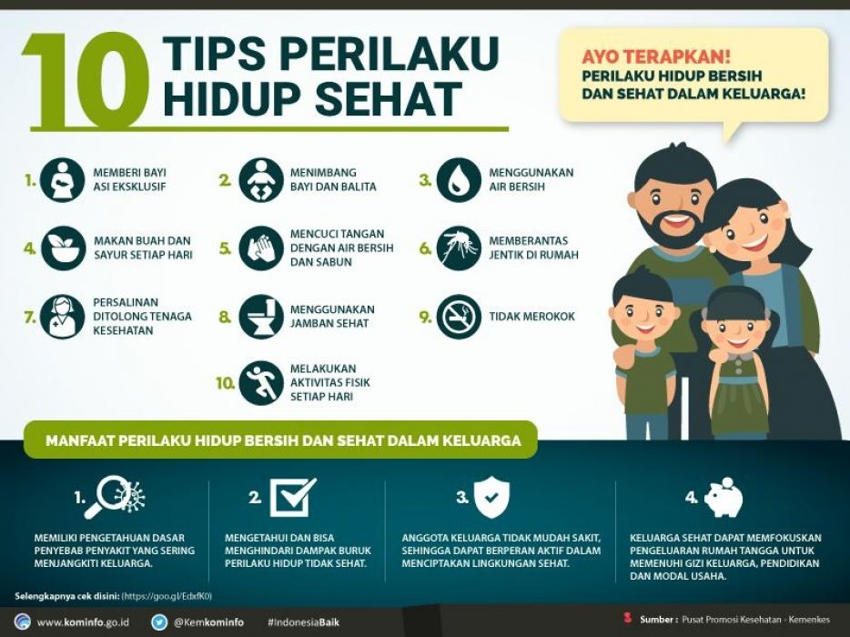 10 Tips Perilaku Hidup Sehat