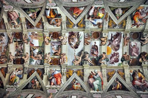 Frescos de la bóveda de la Capilla Sixtina de Miguel Ángel