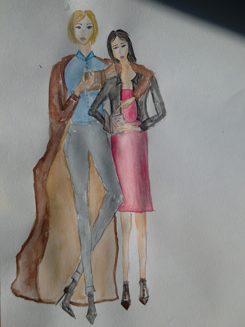#fashionillustration #modnailustracija ##girlsread #friendswhoreadtogetherstaytogether